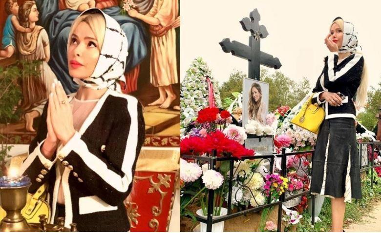 Кравец после «фотосессии» на могиле Началовой и в храме обвинила хейтеров в бездуховности